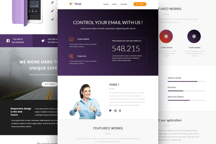 Thumbnail for Wsap - Responsive Email and Newsletter Template