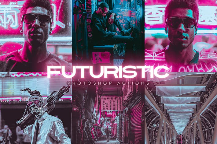 Thumbnail for Futuristic Photoshop Actions