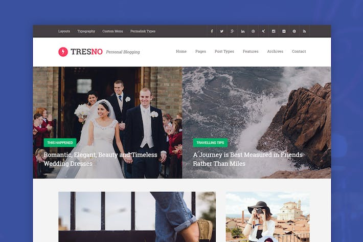 Thumbnail for Tresno - Personal Tumblr Theme