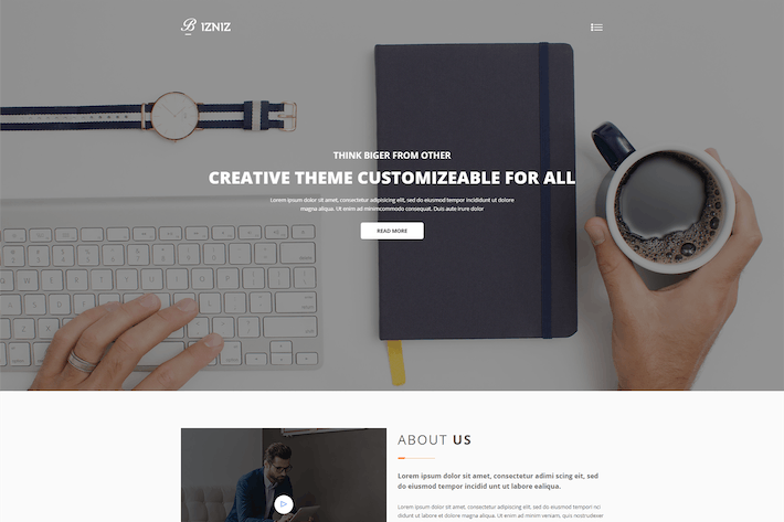 Thumbnail for Bizniz – Creative Agency HTML Template
