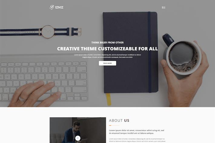 Thumbnail for Bizniz — Agence créative HTML Modèle