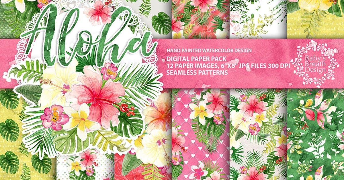 Download Tropical Digital paper pack by designloverstudio