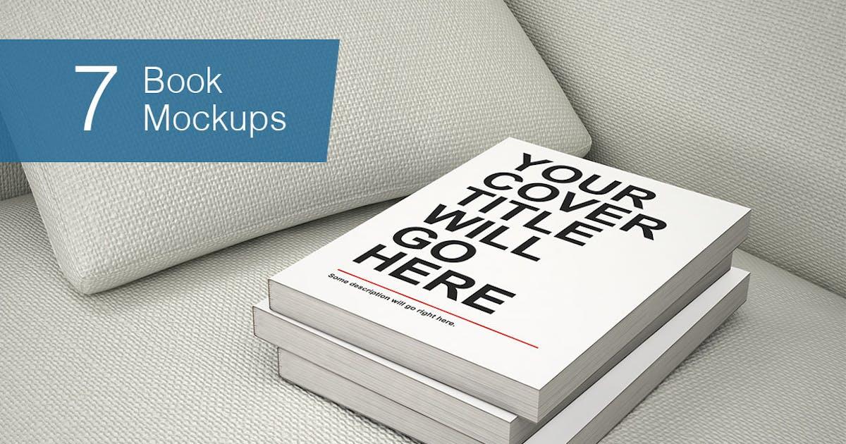 Book Mockup - 7 Poses by smartybundles
