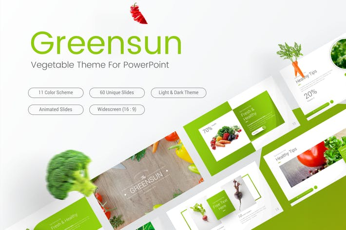 Thumbnail for Greensun Vegetable PowerPoint Template