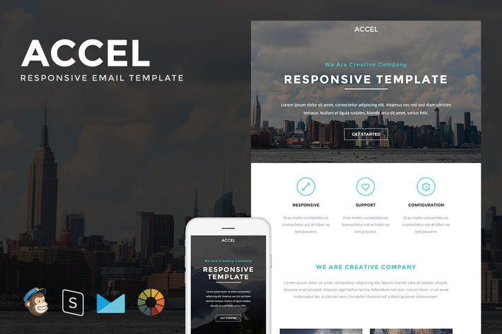 Thumbnail for Accel - Responsive Email + StampReady Builder