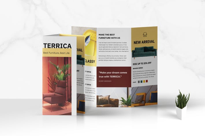 Thumbnail for Trifold Furniture Business Brochure