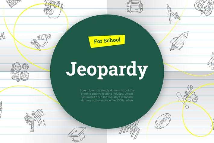 Thumbnail for Jeopardy for school PPT PowerPoint