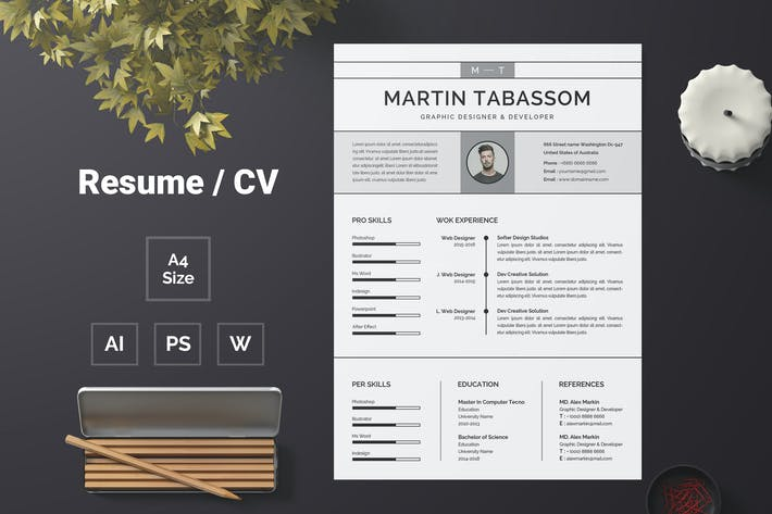 Thumbnail for Resume Template 64