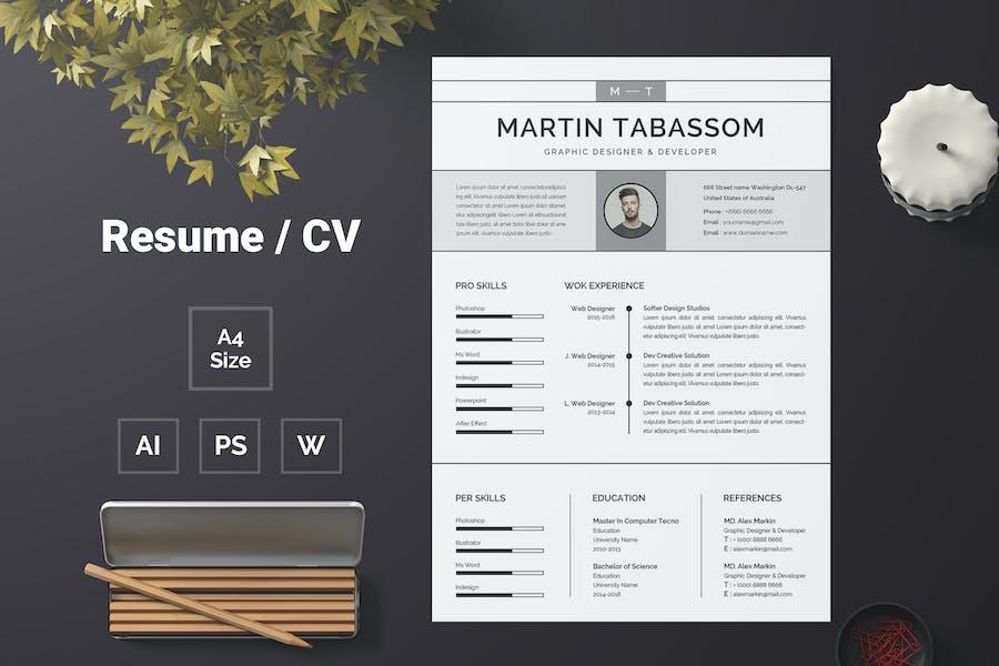 Resume Template 64