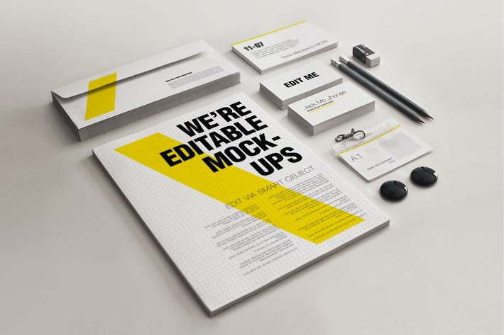 Thumbnail for Realistic Stationery Mock-up Set 3- Corporate ID