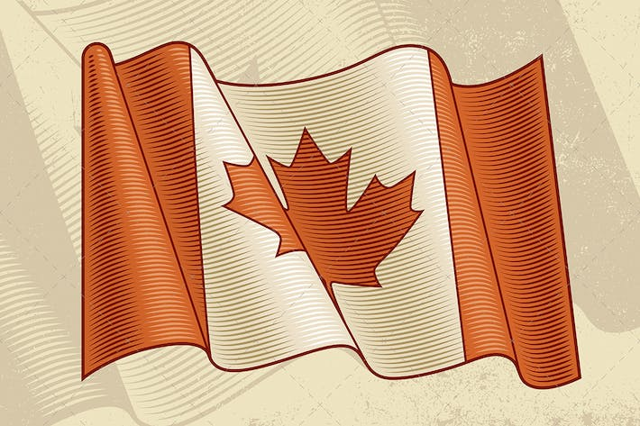 Thumbnail for Vintage Canadian Flag