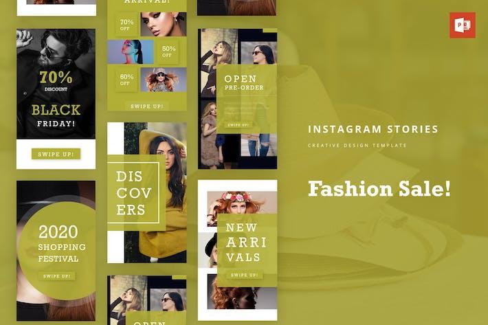 Thumbnail for Мода Instagram История Powerpoint Шаблон