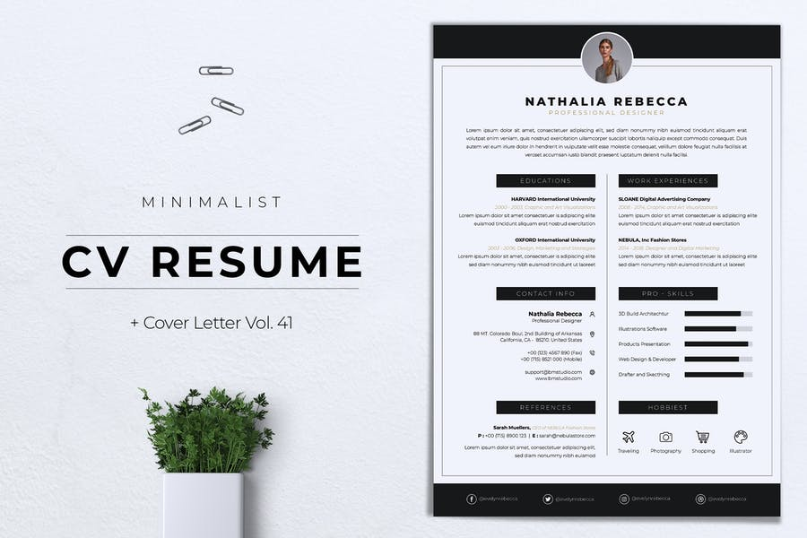 Minimalist CV Resume Vol.41