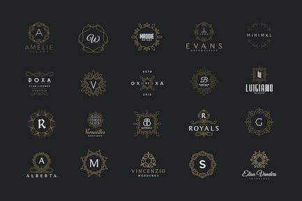 20 Monogramm- und Wappen Logos