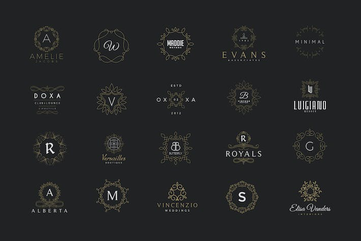 Thumbnail for 20 Monogram & Crest Logos