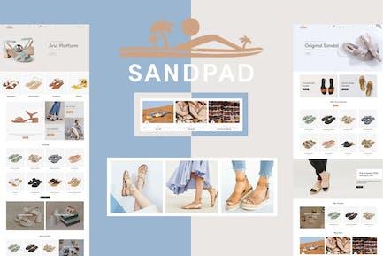 Песочница - Сандалии и Обувь Shopify Тема