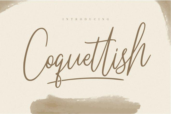 Thumbnail for Fuente de escritura manuscrita coqueta