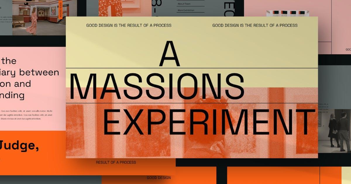 Download MASSIONS Keynote Template by axelartstudio