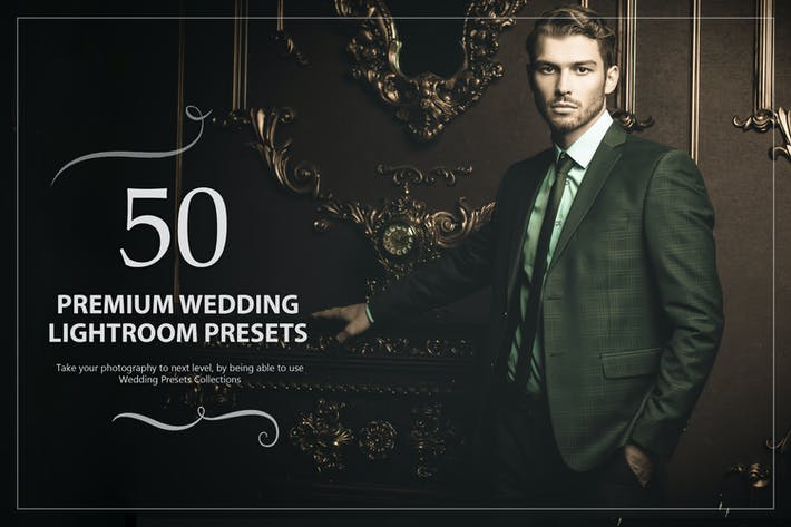Thumbnail for 50 Premium Wedding Lightroom Presets