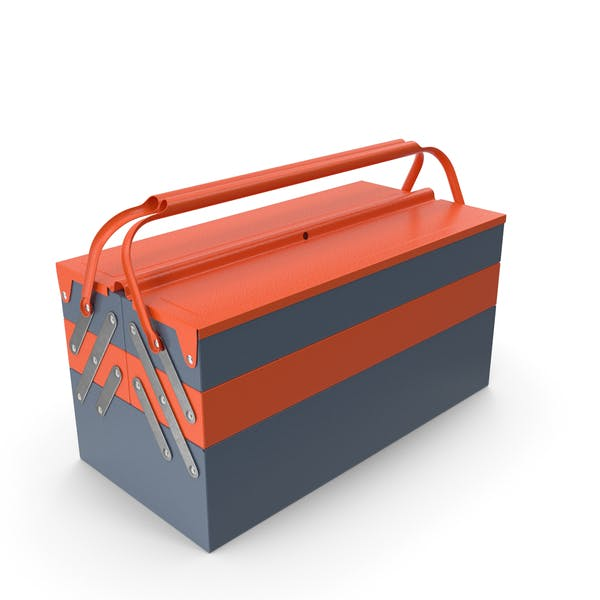 Metal Cantilever Tool Box Orange