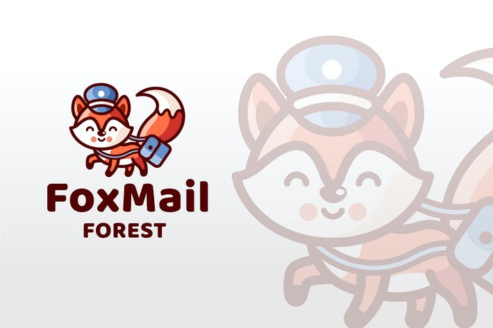 Thumbnail for Fox Mail Forest Logo Template