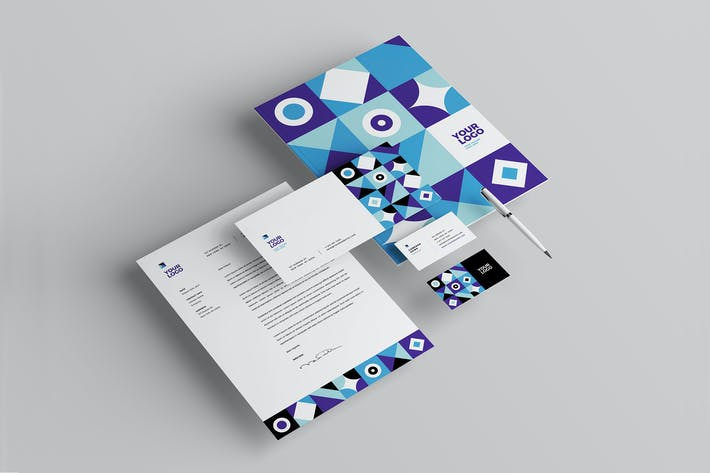 Thumbnail for Cool Colorful Pattern Stationery