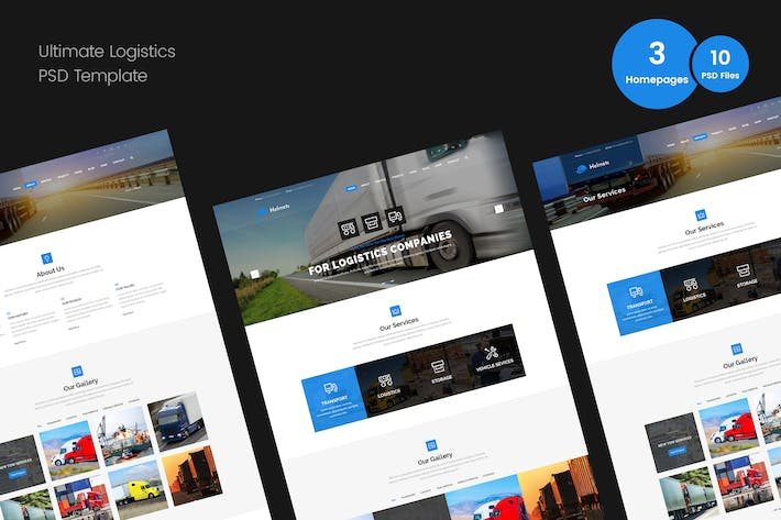 Thumbnail for Logistics PSD Template for Handyman