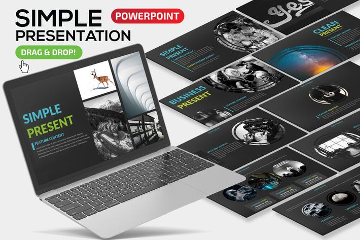 Thumbnail for Simple Powerpoint Dark version