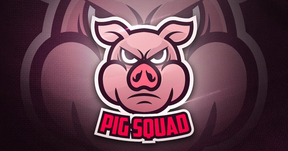 Pig Squad - Mascot & Esport Logo by aqrstudio