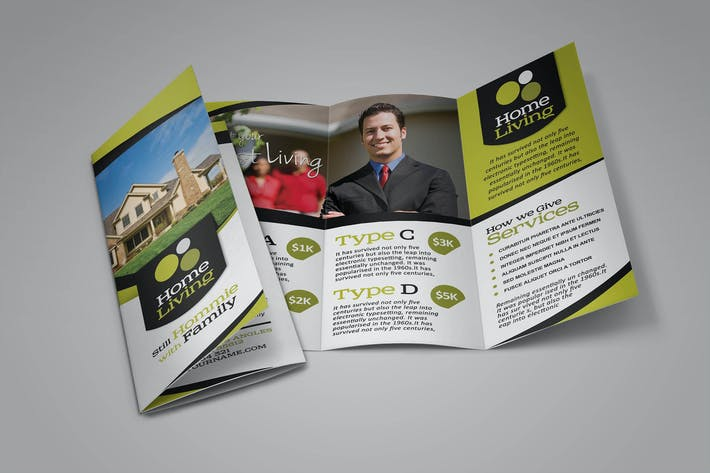 Thumbnail for Living Real Estate Brochure Template