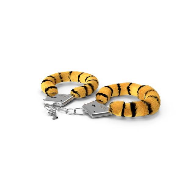 Fuzzy Tiger Handcuffs Fur
