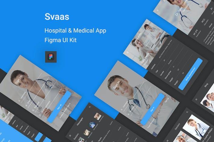 Thumbnail for Svaas - Hospital & Medical Figma UI Kit