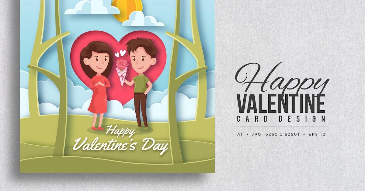 Download Paper Art Valentine Square Vector Card Vol.6 by naulicrea
