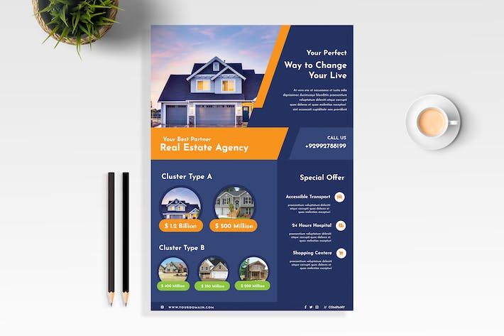 Cover Image For Real Estate Business Flyer