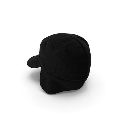 Black Military Field Cap with Earflaps