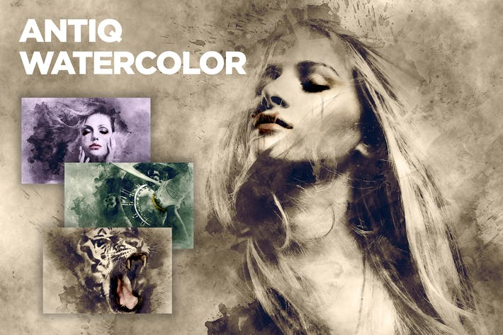 Thumbnail for Antiq Watercolor CS3+ Photoshop Action