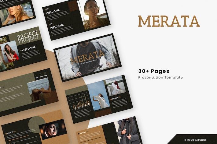 Thumbnail for Merata - Google Slides Template