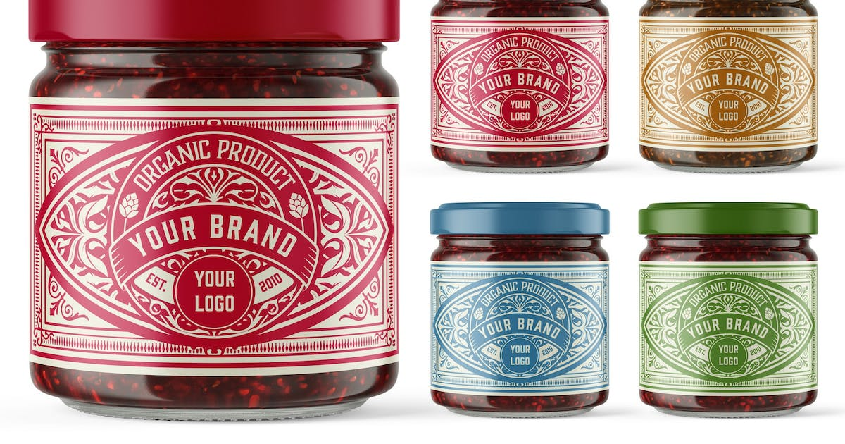Download Vintage-Style Jam Label Layout by roverto007