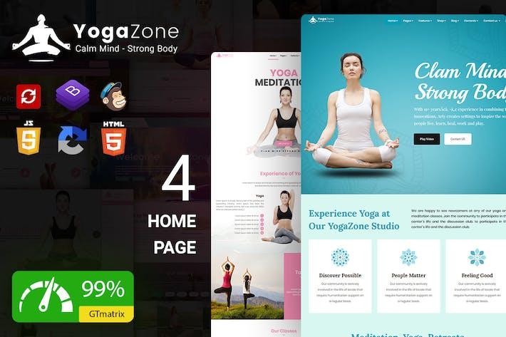 YogaZone: Yoga, Fitness & Meditation Template