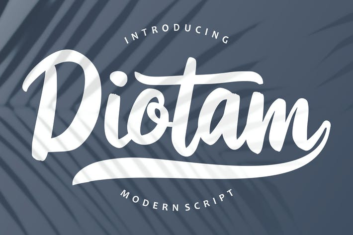Thumbnail for Diotam | Police de script moderne