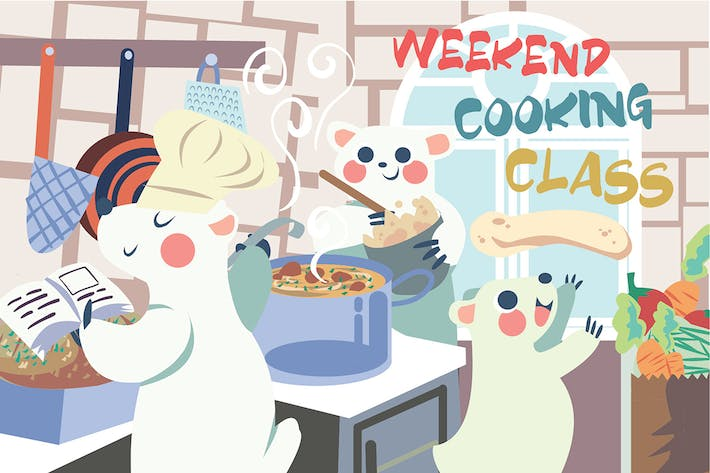 Thumbnail for Cooking Class - Vector Illustration