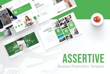 Assertive Business Modern PowerPoint Template