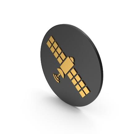 Satellite Gold Icon