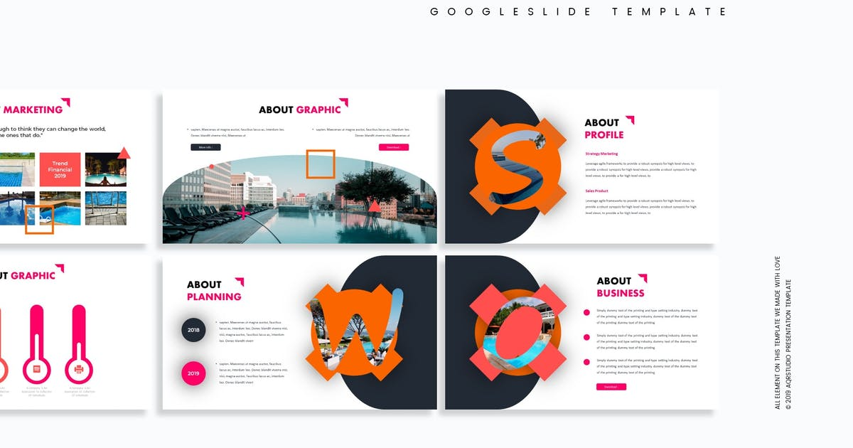 Download Swimming - Google Slides Template by aqrstudio