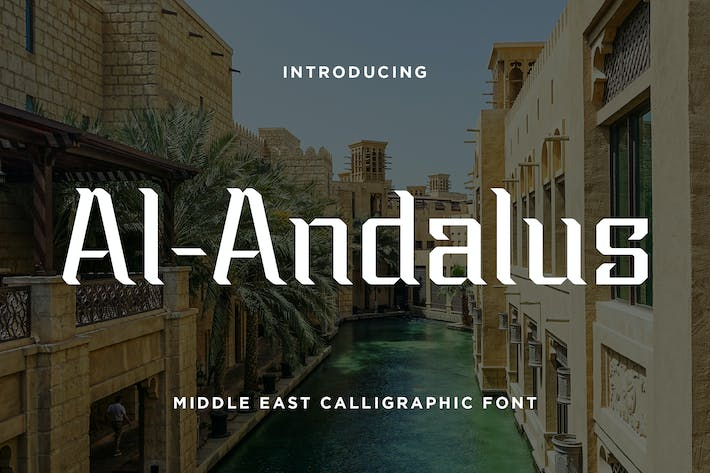 Thumbnail for Al-Andalus - Middle East Calligraphic Font