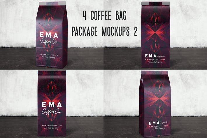 Thumbnail for 4 Coffee Bag Package Mockups 2