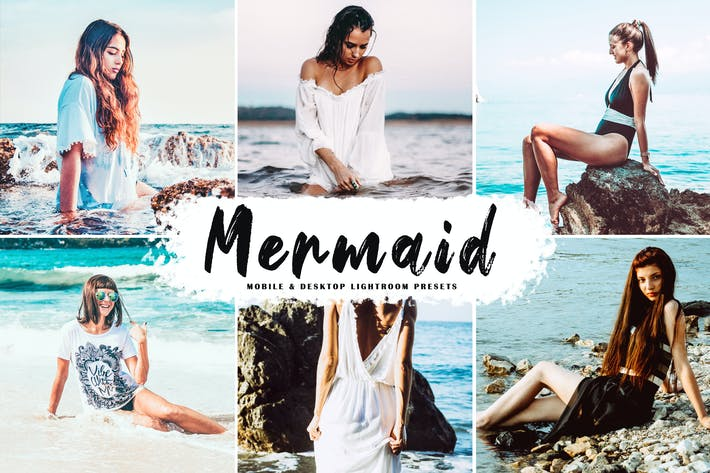 Thumbnail for Mermaid Mobile & Desktop Lightroom Presets