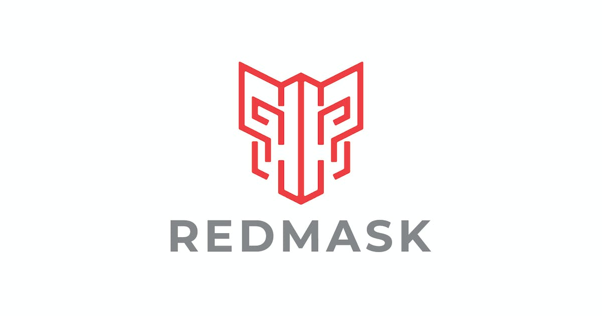 Download Modern Red Mask Line Logo by Suhandi