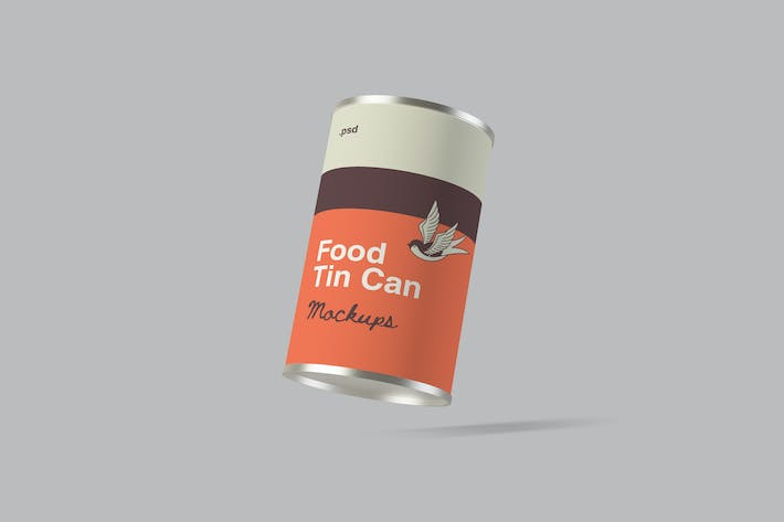 Thumbnail for Food Tin Can Packaging Mockups
