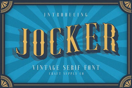 Jocker - Vintage Serif Font Family (8 Fonts)
